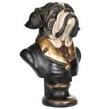 Staty Byst av Bulldog i Kavaj