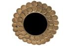 Spegel rund stor antik mässing