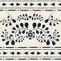 Schablon Faux-Bone-Inlay-Stencil