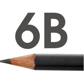 Art Design blyertspennor, Dia. 6,9 mm, hårdhet 6B, -