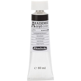 Acryl color Lamp black 60ml - Lamp black  60ml