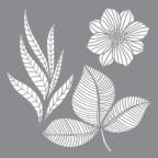 Stencil Petals & Leaf