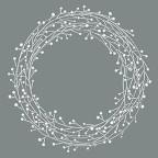 Stencil Winterberry
