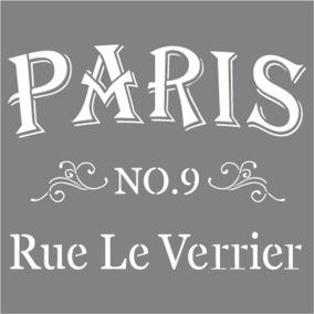 Stencil Parisian Street - Stencil Parisian Street  30,5 x 30,5 cm.