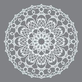 Stencil Doily - Stencil Doily  30 x 30 cm.
