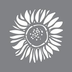 Stencil Sunflower - Stencil Sunflower  15 x 15 cm.