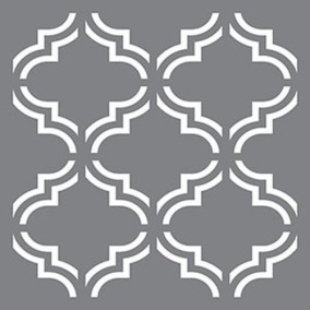 Stencil Moroccan Tile - Stencil Moroccan Tile  45,7 x 45,7 cm.
