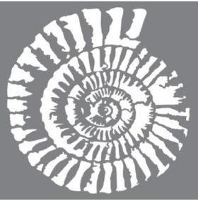 Stencil Fossil - Stencil Fossil 20 x 20 cm