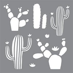 Stencil Kaktus - Stencil Kaktus  25x25