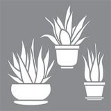 Stencil Aloe Vera