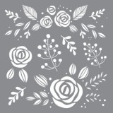 Stencil Whimsical Floral