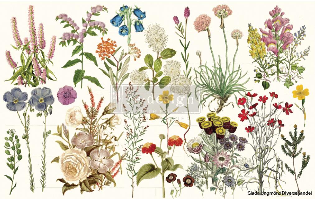 Redesign Decoupage Décor Tissue Paper - Wild Herbs
