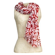 Scarf Gigi, red/white