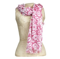 Scarf Gigi, pink/white