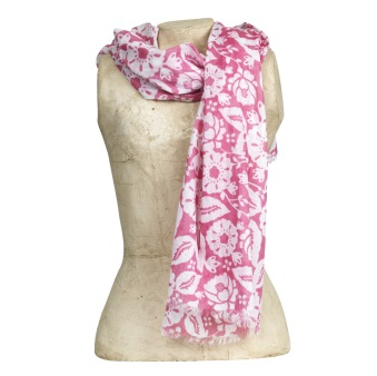 Scarf Gigi, pink/white - Scarf Gigi, pink/white