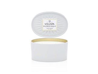 .Voluspa 2 wick Candle Decorative Oval Tin Bourbon Vanille (doftljus)