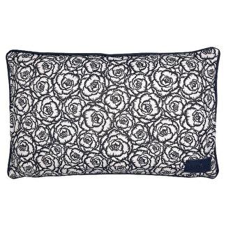 ..Greengate Gate Noir Kuddfodral 30x50 cm, Blossom grey