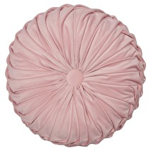 ..Greengate Kudde, Rund i rosa sammetsliknande tyg