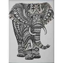 .Svanefors Bonad Jaquard väv - Elefant