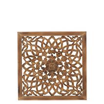 Carve Tempeltavla, Natur/guld (45x45 cm)