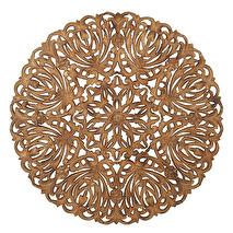 Carve Tempeltavla, rund natur (dia: 115 cm)