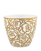 ..Greengate Gate Noir Latte Mugg Blossom gold