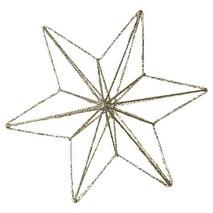 GreenGate Guldglittrig stjärna i metall (large)