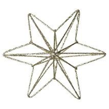 GreenGate Guldglittrig stjärna i metall (small)