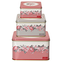 GreenGate Square box Shirley red Set om 3