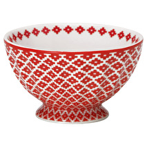 Greengate French Bowl Medium Judy Red