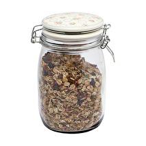 Greengate Glass storage jar Smilla White L