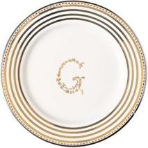 Greengate assiett mini; G silver