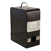 Bag in Box, Vinbox  i plåt - svart
