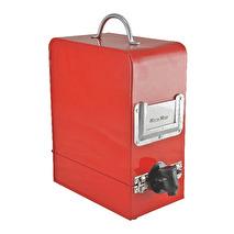 Bag in Box, Vinbox i plåt - Röd