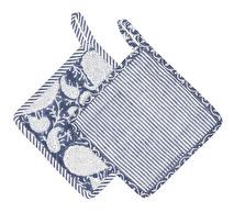 Chamois Grytlappar, Blå paisley 2 pack