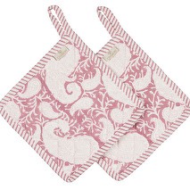 Chamois Grytlappar, Rosa paisley 2 pack