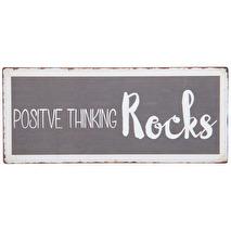 IB Laursen Metall skylt Positive thinking...