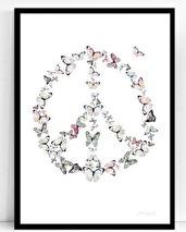 .Poster - Atelje Epifor (Peace butterflies)