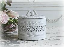 Chic Antique Plåtburk, vit med