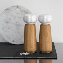 Kähler, Hammershöi salt eller pepparkvarn, stor (vit)