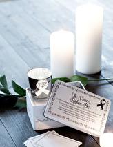 Maja, Cancer ribbon box + lykta