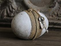 Chic Antique Dekorationsägg vintage med hänge
