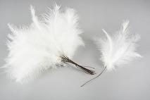 Fjädrar till riset, vita (vippor)