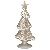 Greengate Julpynt Tree glass December white