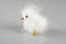 Kyckling, vit fluffig (A lot decoration) - Beställningsvara