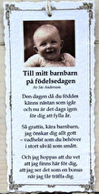 Diktkort - Till mitt barnbarn på födelsedagen