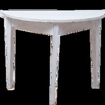 Miljögården Halvbord/månbord (rustik white)