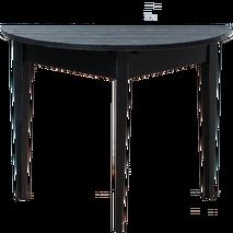 Miljögården Halvbord/månbord (svart)