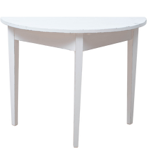 Miljögården Halvbord/månbord (vintage white)
