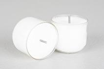 Värmeljus, vitt i klar kopp (12 tim)